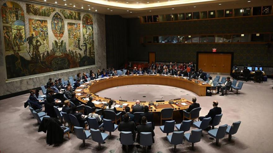 Una reunión del Consejo de Seguridad de las Naciones Unidas (CSNU) en Nueva York, EE.UU., 26 de febrero de 2020.