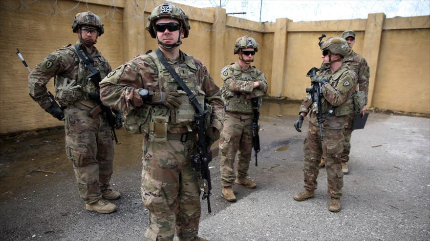 Soldados estadounidenses en la base aérea K-1, en la provincia de Kirkuk, norte de Irak, 29 de marzo de 2020. (Foto: AFP)