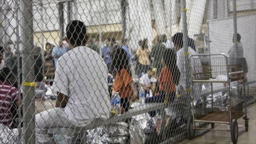 Un centro de detención de migrantes en Estados Unidos.