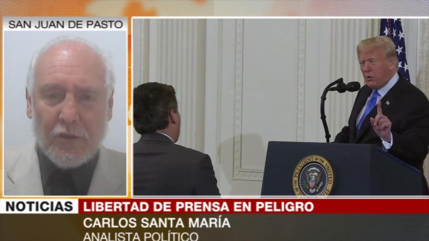 Santa María: Actuación desquiciada de Trump pronto lo derrumbará