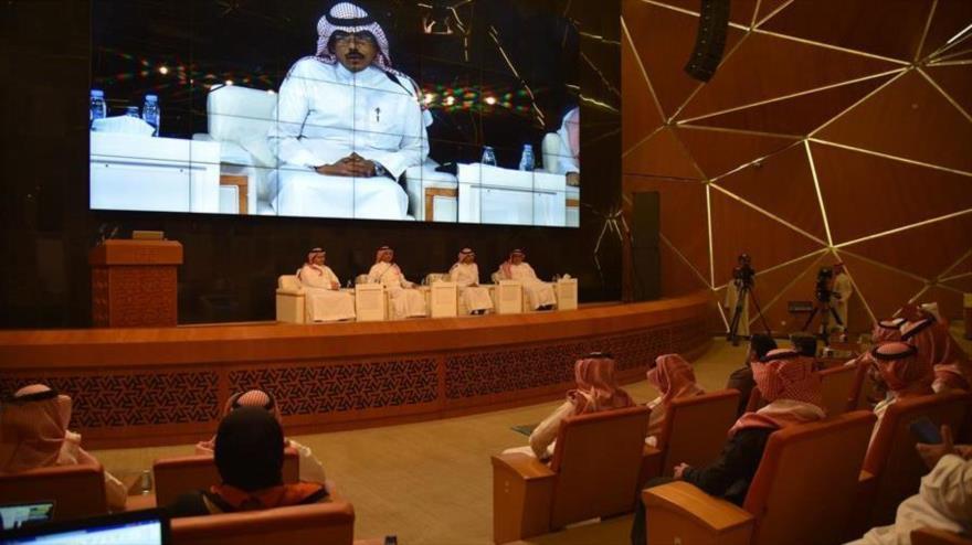 El comité de la lucha contra el coronavirus de Arabia Saudí celebra una conferencia de prensa en Riad, capital del país árabe, 1 de marzo de 2020.
