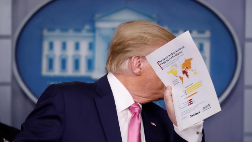 El presidente de EE.UU., Donald Trump, en una conferencia de prensa sobre el COVID-19 en la Casa Blanca, 26 de febrero de 2020. (Foto: Reuters)
