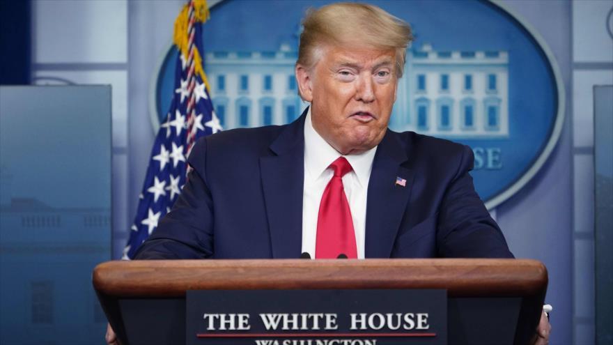 El presidente de EE.UU., Donald Trump, habla en una rueda de prensa en la Casa Blanca, 8 de abril de 2020. (Foto: AFP)