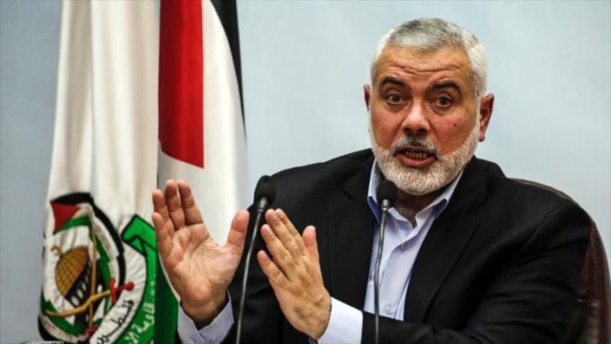 El líder del Movimiento de la Resistencia Islámica de Palestina (HAMAS), Ismail Haniya, en un acto en Gaza, 23 de enero de 2018. (Foto: AFP)