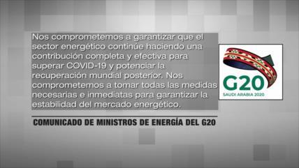 Países del G20 se esfuerzan para estabilizar el mercado petrolero