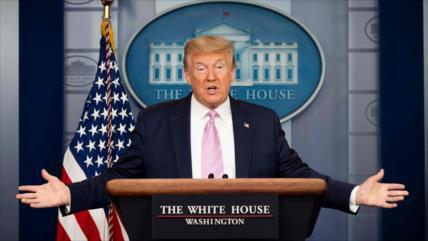 """Trump admite que la economía de EEUU está """"cerrada"""" por COVID-19"""