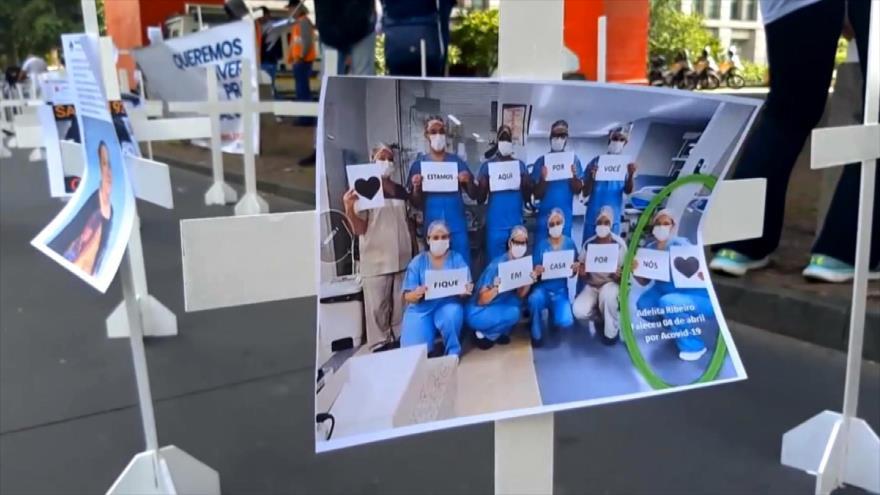 Enfermeros de Brasil rechazan mal manejo de Bolsonaro ante COVID-19 | HISPANTV