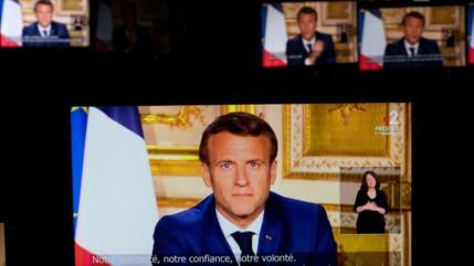 Macron admite falta de preparación de Francia ante COVID-19
