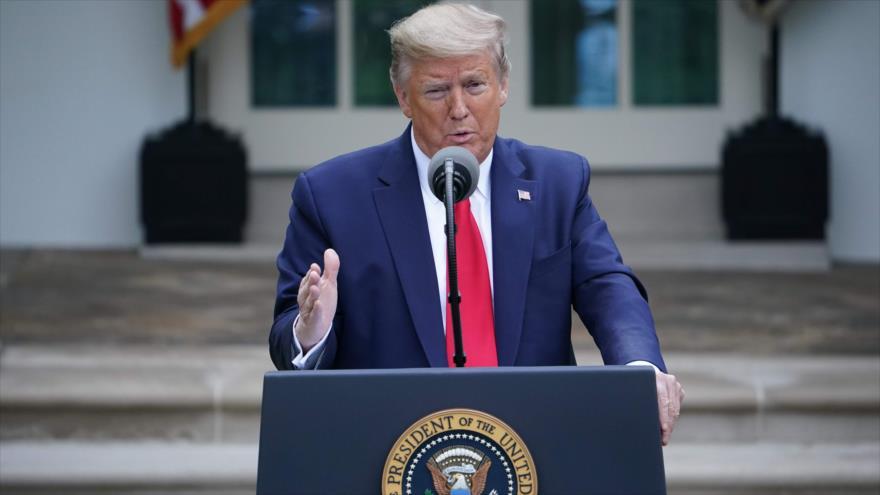 El presidente de EE.UU., Donald Trump, Washington D.C., 14 de abril 2020. (Foto: AFP)