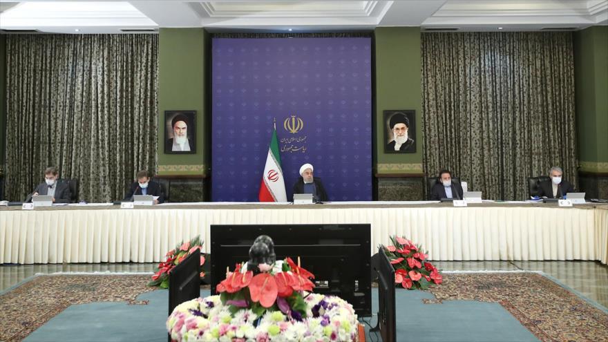 El presidente de Irán, Hasan Rohani, en una sesión del Gabinete, Teherán, capital de Irán, 15 de abril de 2020. (Foto: president.ir)