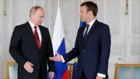 Macron busca apoyo de Putin para suplicar tregua mundial ante ONU