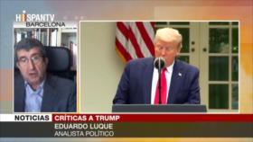 Luque: Gestión de Trump es pésima de cara a elecciones