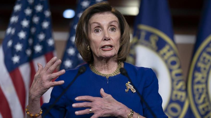 La presidenta de la Cámara de Representantes de EE.UU., Nancy Pelosi.
