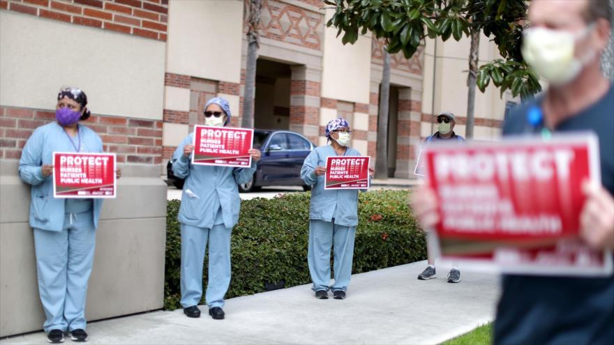 Sanitarios en EEUU protestan por escasez de equipos de protección | HISPANTV