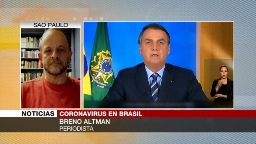 'Bolsonaro destituye a ministro de Salud para relajar cuarentena'
