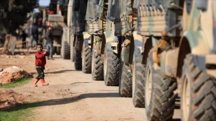 Otro convoy militar turco entra en la provincia siria de Idlib