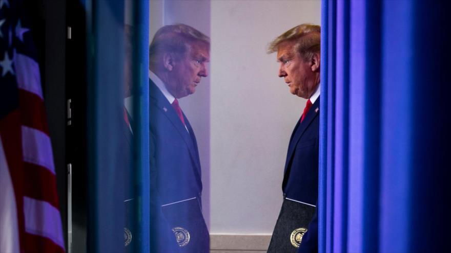 El presidente de EE.UU., Donald Trump, en la Casa Blanca, Washington D.C., 19 de abril de 2020. (Foro: Reuters)