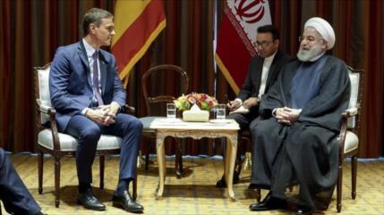"""Rohani urge a España y UE a """"oponerse"""" a las hostilidades de EEUU"""