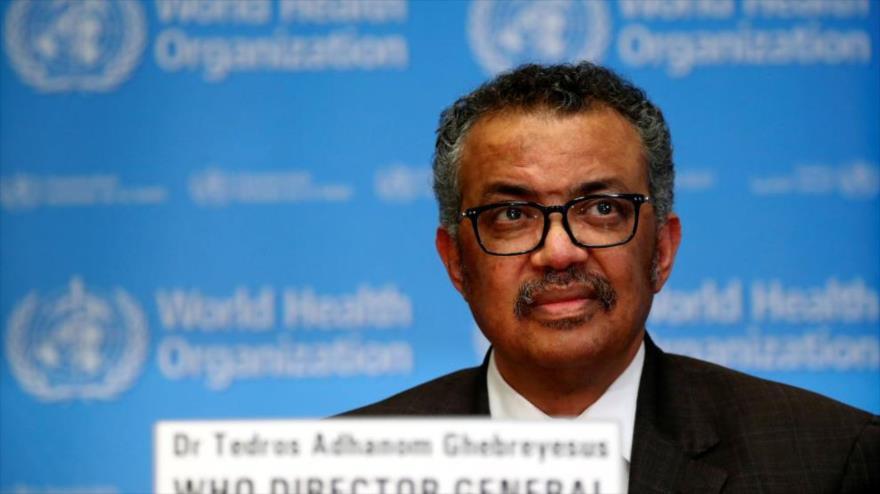 El director general de la Organización Mundial de la Salud (OMS), Tedros Adhanom Ghebreyesus, durante una rueda de prensa.