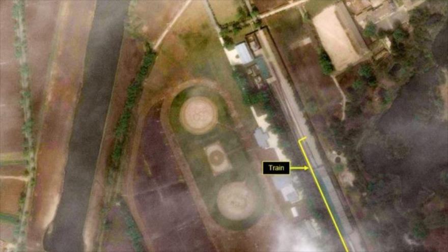 Un satélite localiza el tren de Kim en un balneario norcoreano | HISPANTV