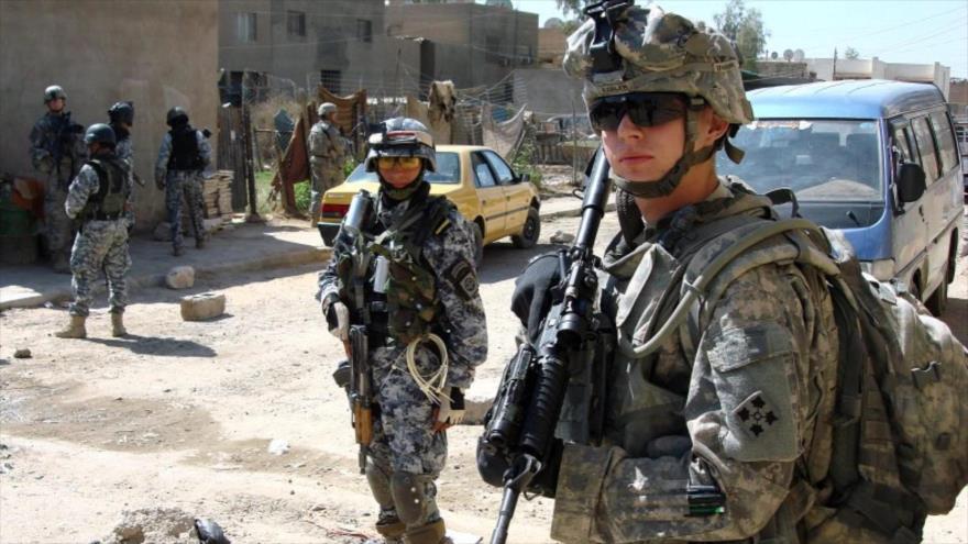 Soldados estadounidenses desplegados en Irak.