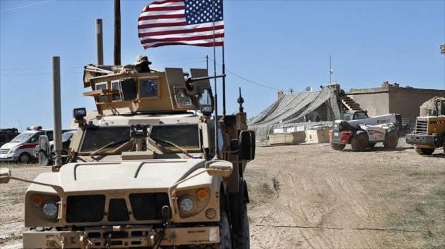 Un vehículo blindado de EE.UU. en Irak.