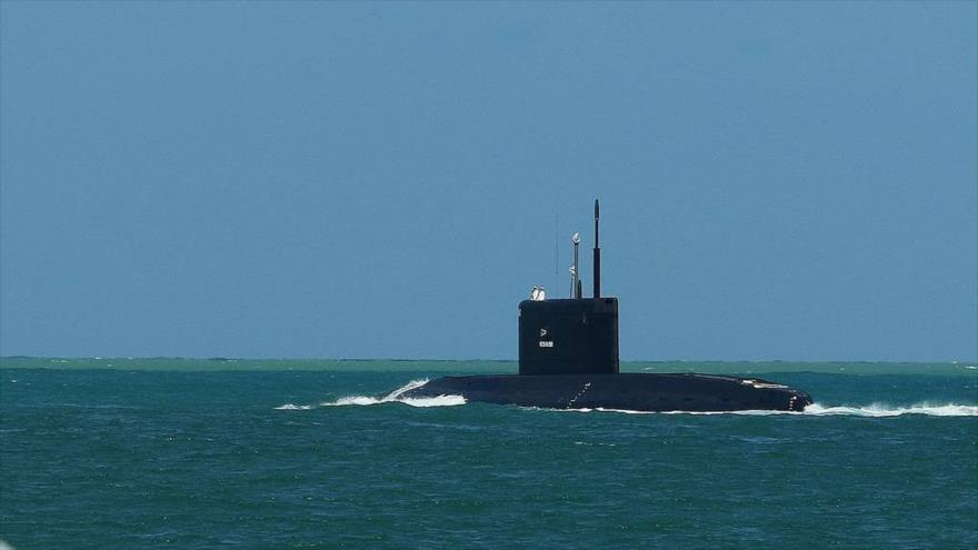 El submarino de ataque convencional Rostov-on-Don, de la Flota del mar Negro de la Armada rusa.