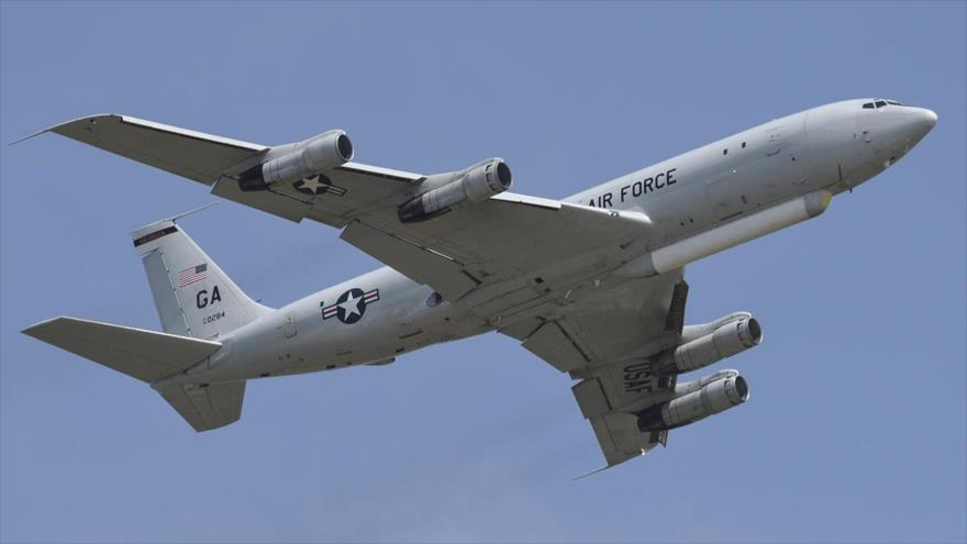 Un avión de reconocimiento E-8C Joint STARS de la Armada de EE.UU.