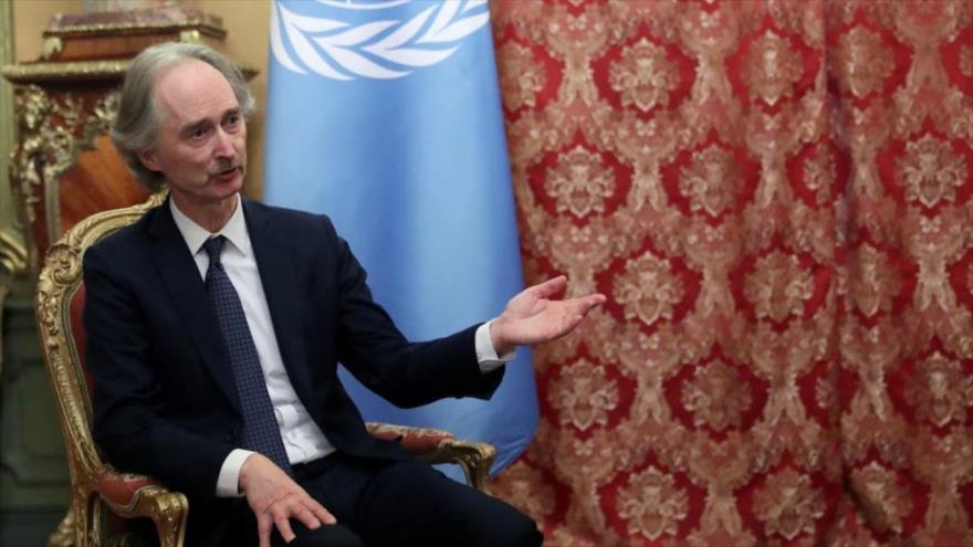 El enviado de la ONU para Siria, Geir Pedersen, habla en un evento en Moscú (capital de Rusia), 24 de enero de 2020. (Foto: Reuters)