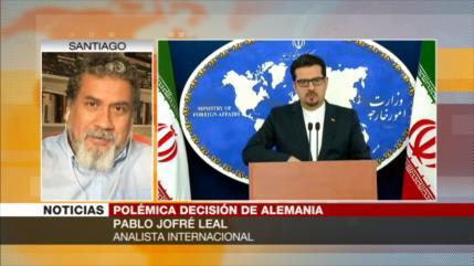 Jofre: Alemania designa terrorista a Hezbolá por chantaje sionista