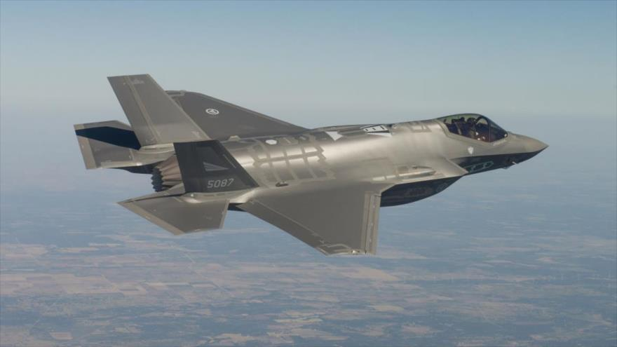 Un avión de combate F-35 de la Fuerza Aérea de Noruega.