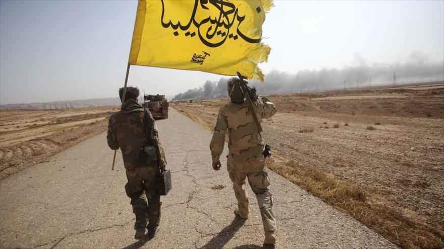 Miembros de las Unidades de Movilización Popular de Irak durante una operación antiterrorista.