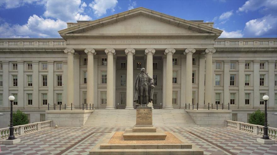 El edificio del Departamento del Tesoro de Estados Unidos en Washington, capital.
