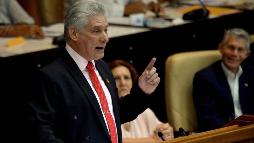 El presidente de Cuba, Miguel Díaz-Canel, 21 de deciembre de 2019. (Foto: AFP)