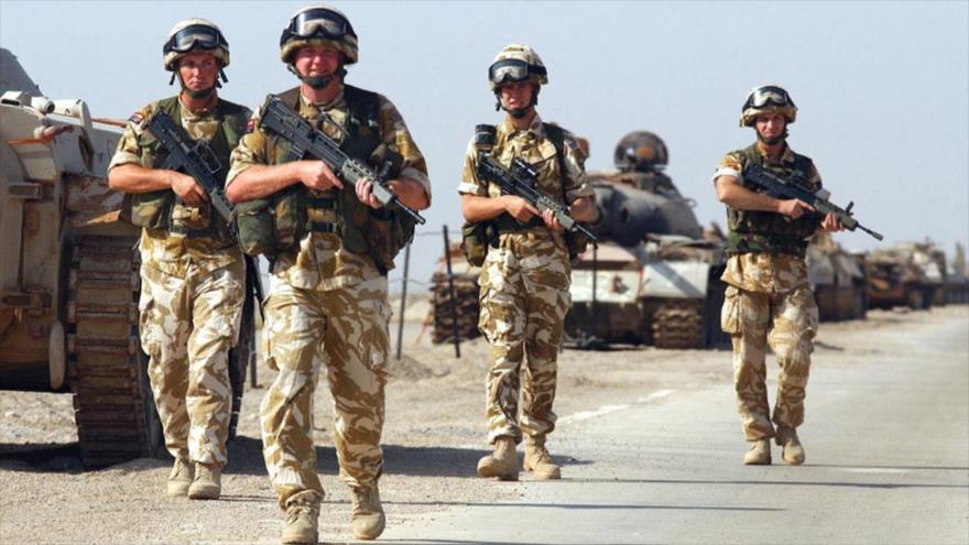 Fuerzas británicas durante una operación en Irak.