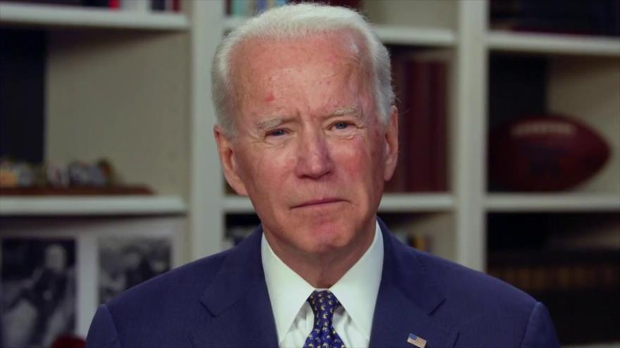 Joe Biden, candidato a la Presidencia de EE.UU. por el Partido Demócrata, en una entrevista con una televisora local, 2 de mayo de 2020.