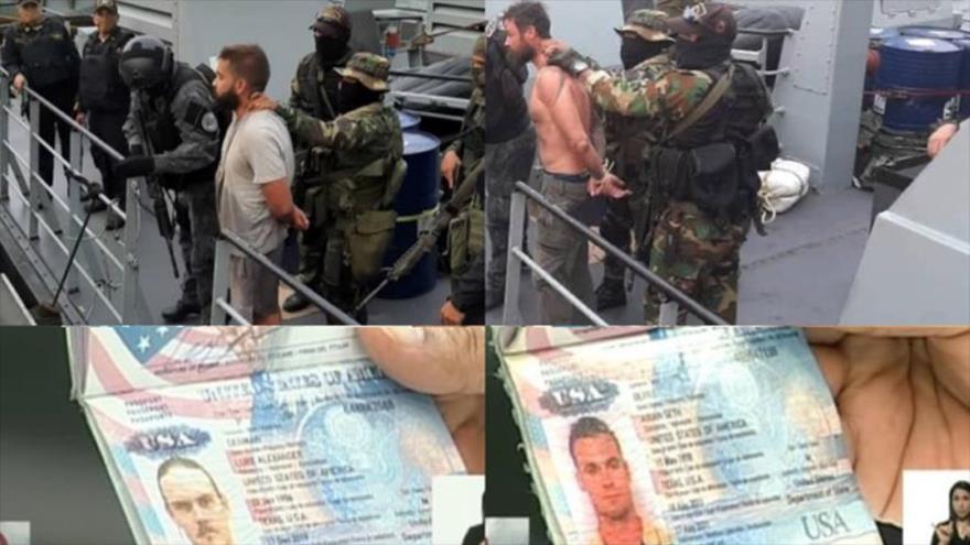 Los dos mercenarios de origen estadounidense detenidos por autoridades venezolanas tras haberles frustrado su plan golpista de incursión militar sobre Venezuela.