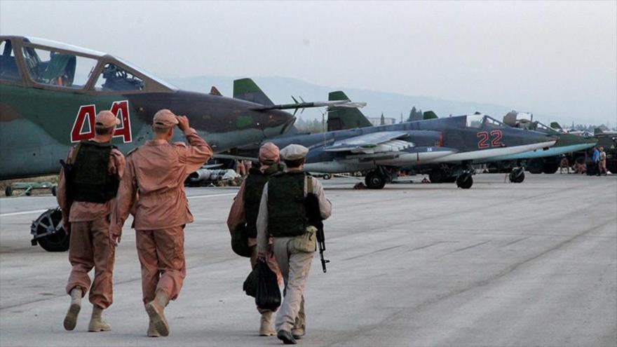 Base aérea rusa de Hmeimim, ubicada en la provincia siria de Latakia.