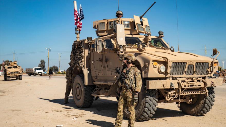 Soldados estadounidenses desplegados en la provincia de Al-Hasaka, sita en el noreste de Siria, 3 de marzo de 2020. (Foto: AFP)