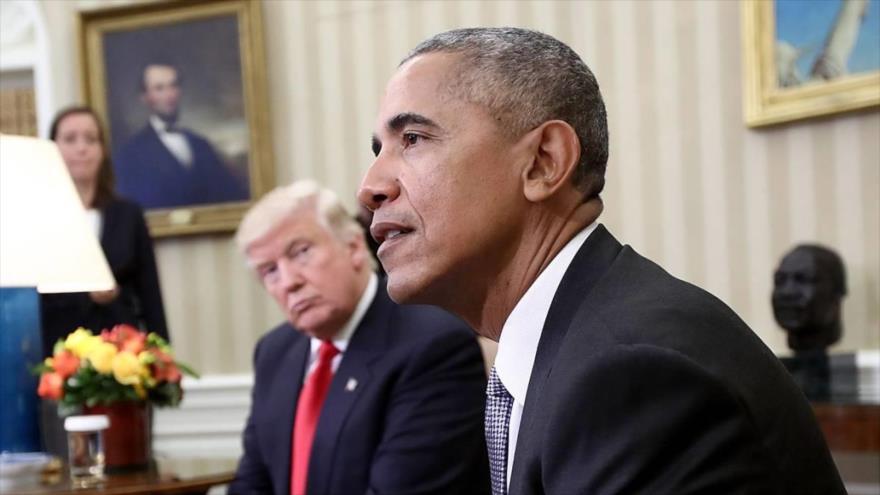 El expresidente estadounidense Barack Obama, y el presidente actual Donald Trump, durante una reunión en la Casa Blanca, 10 de noviembre de 2016. (Foto: AFP)