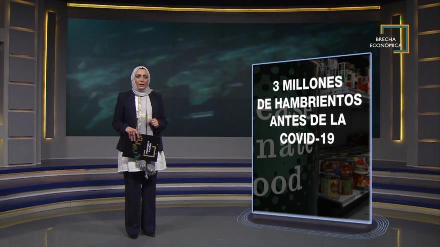 Brecha Económica: Estadounidenses hambrientos y bancos de alimentos