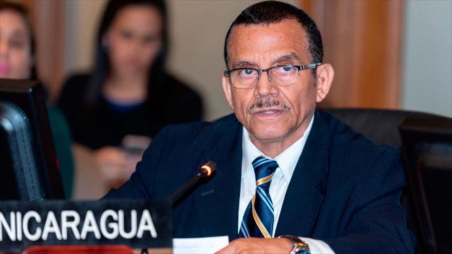 El representante de Nicaragua ante la Organización de Estados Americanos (OEA), Luis Alvarado.