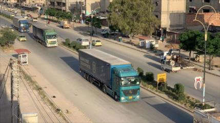 Un convoy cruza paso monitoreado por EEUU y entra en Siria