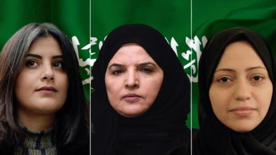 Las activistas saudíes detenidas: Loujain al-Hathloul, Aziza al-Yousef y Samar Mohammad Badawi.