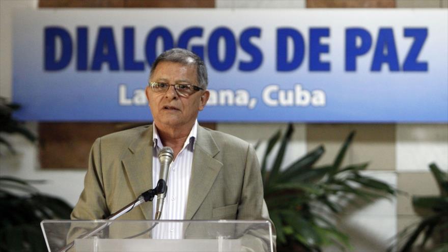 El delegado de la extinta guerrilla Fuerzas Armadas Revolucionarias de Colombia (FARC), Rodrigo Granda.