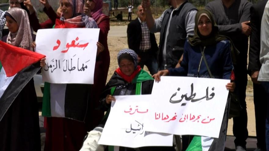 Palestinos conmemoran 72.º aniversario del Día de la Nakba