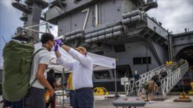 13 marines de portaviones de EEUU vuelven a dar positivo en COVID-19
