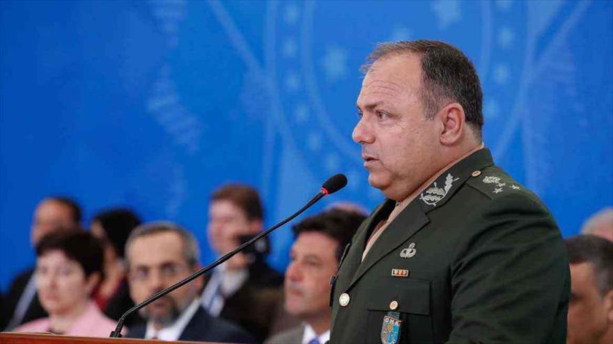 El general Eduardo Pazuello, designado nuevo ministro interino de Salud de Brasil, a partir del domingo, 17 de mayo de 2020.