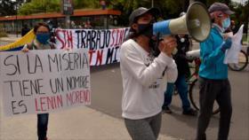 Protestan en Ecuador contra reformas laborales en plena pandemia
