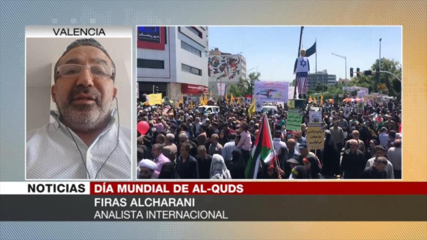 Firas Alcharani: Israel odia a Irán por Día Mundial de Al-Quds